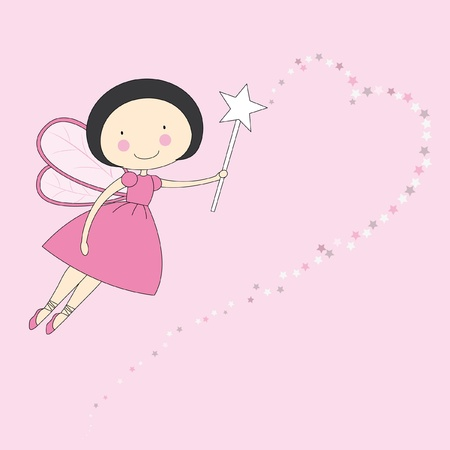 Fairy with a magic wand Stock Vector - 9549851