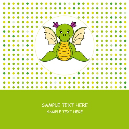 Greeting card. Dragon Vector