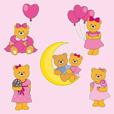 Bears Sticker Fun Stock Vector - 9881223
