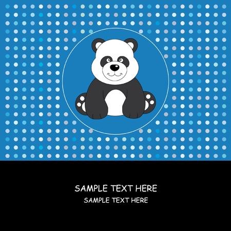 Baby boy arrival announcement. Panda bear 向量圖像