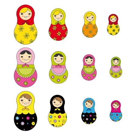 russian doll: Russian doll pattern