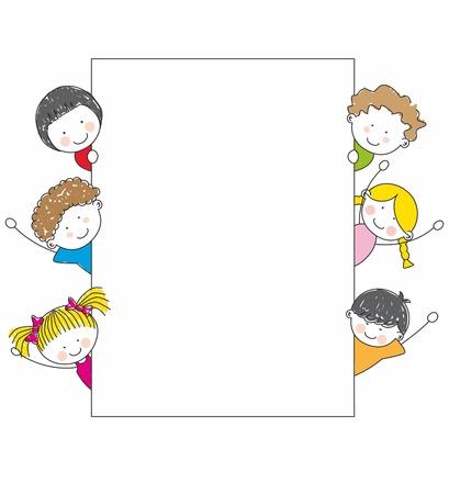 baby on board: Cute cartoon kids frame