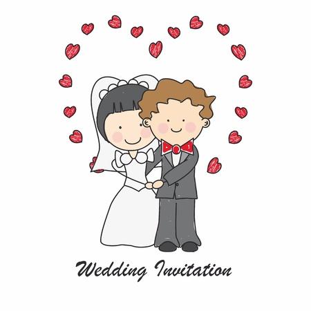 newlywed: Wedding invitation card