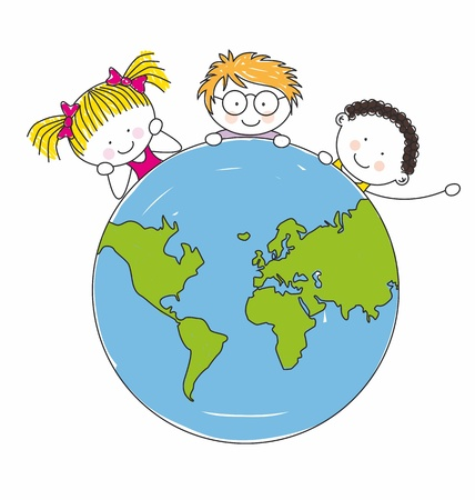 world peace: children around the world united
