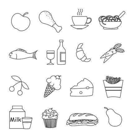 food icon set: Food icon set  Illustration