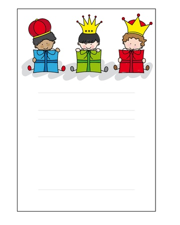 brief aan de Drie Koningen Vector Illustratie