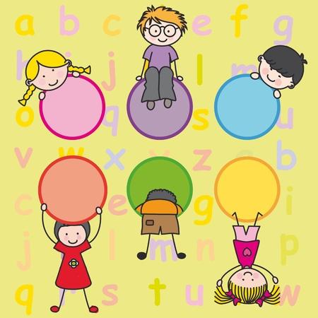 children playing Stock Vector - 12083826