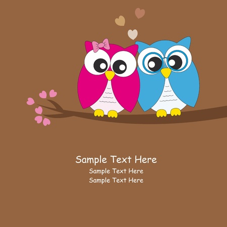 Owls love Stock Vector - 12083827
