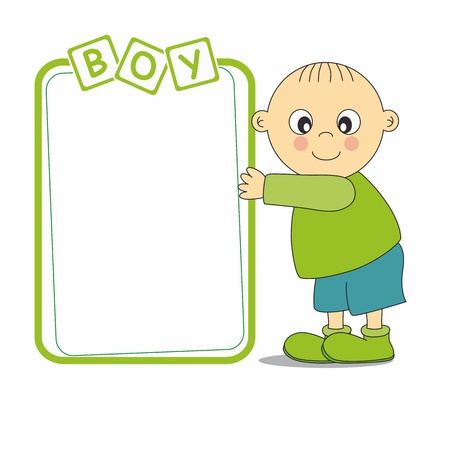 preschool poster: framework baby boy
