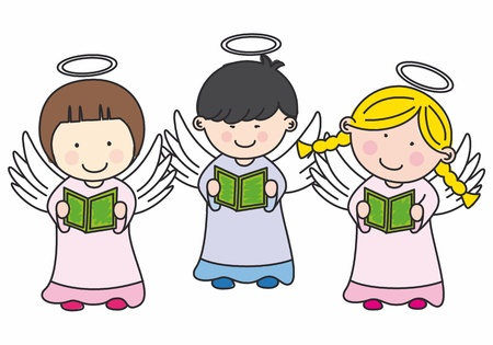 Children making communion Vector