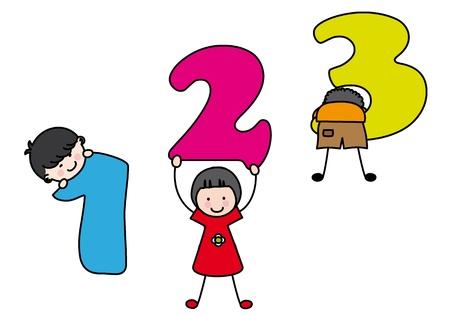les enfants qui apprennent les numéros