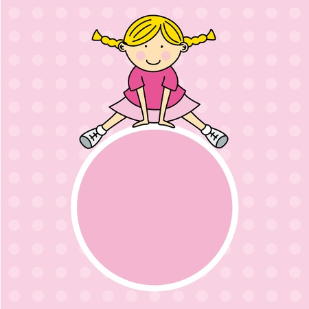 framework girl. Space for text or photo Vector