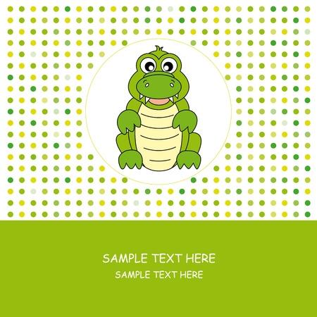 Fun card animals. crocodile