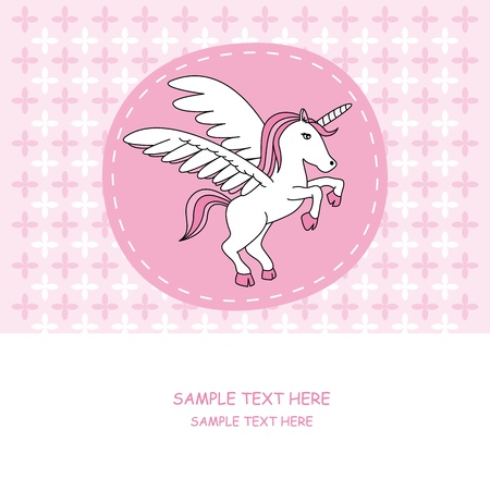 unicorn card  Vector
