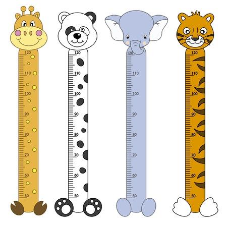 Bumper children meter wall  Wildlife animals Stock Vector - 13689688