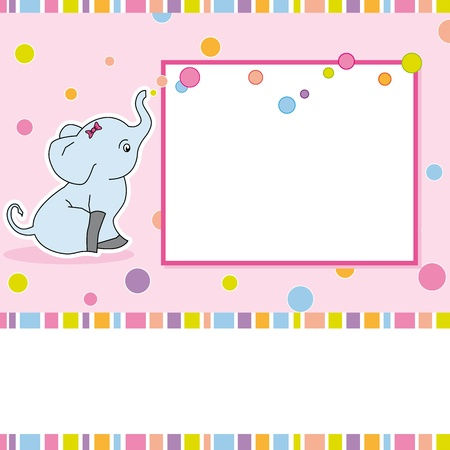 Fun children s card with an elephant Stock Vector - 13689686