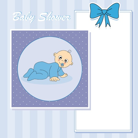 Baby boy arrival announcement card Stock Vector - 13728239