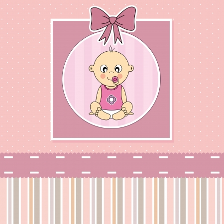 baptism background: Baby girl arrival announcement card