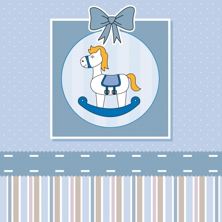 rocking: new baby shower card with rocking horse