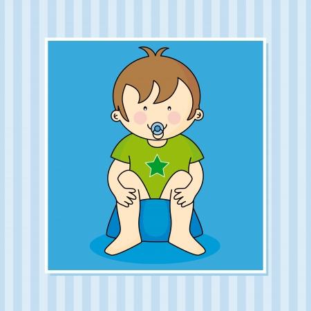 vasino: Bambino seduto sul vasino