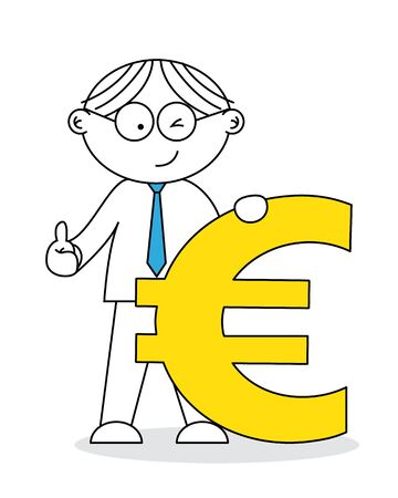 business man and the euro symbol Stock Vector - 15172817