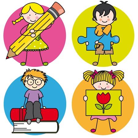 Card voor het onderwijs. Leren schrijven, tekenen, lezen en spelen