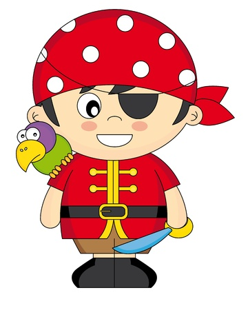 Child dressed as pirate Stock Vector - 15379911