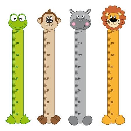 Bumper children meter wall  Animals Stickers Stock Vector - 15731439