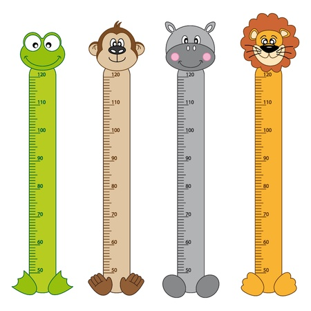 color scale: Bumper children meter wall  Animals Stickers Illustration