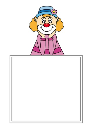 Funny clown art-illustration on a white background  Vector
