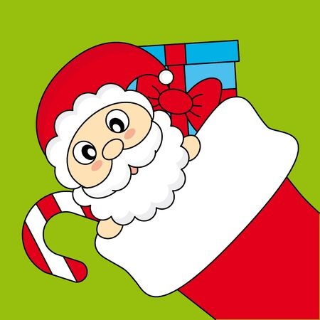 Santa Claus wishing Merry Christmas Stock Vector - 16217040