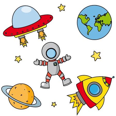 nave espacial: �cones astronomia Ilustra��o