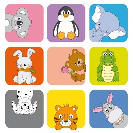 Cartoon animals and pets Illustration