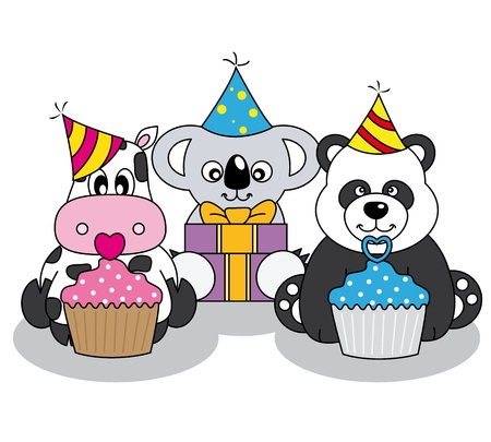 Animals having a party Vector