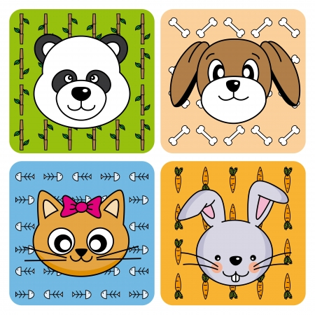 Funny Animal Card Vector