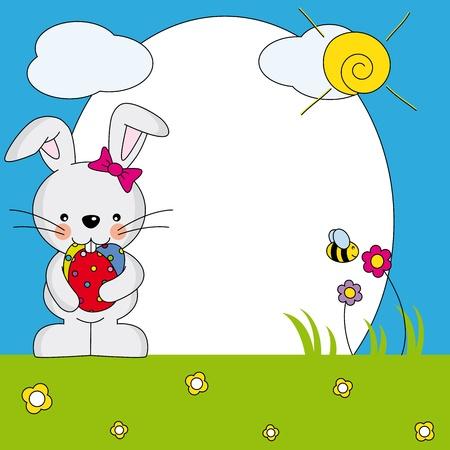 Easter Bunny Spring Framework Stock Vector - 17239431