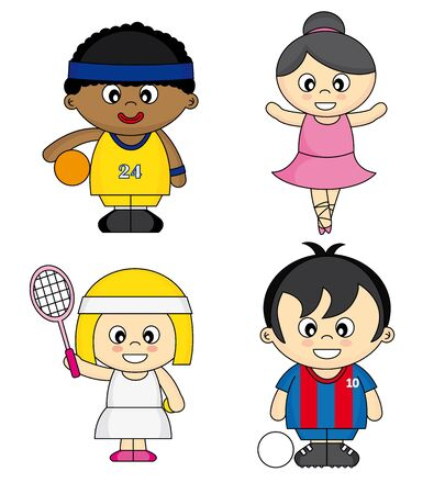Children dressed as athletes Stock Vector - 17313930