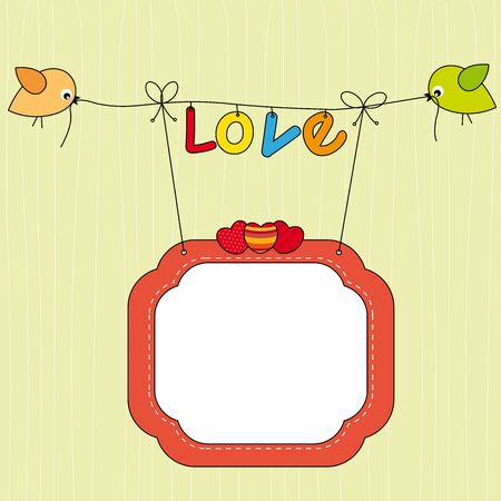 Love card  Space for text or photo Vector