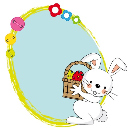 Easter bunny with a framework Vector