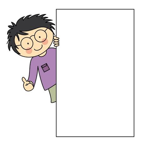 kind met een kader. ruimte voor tekst of foto