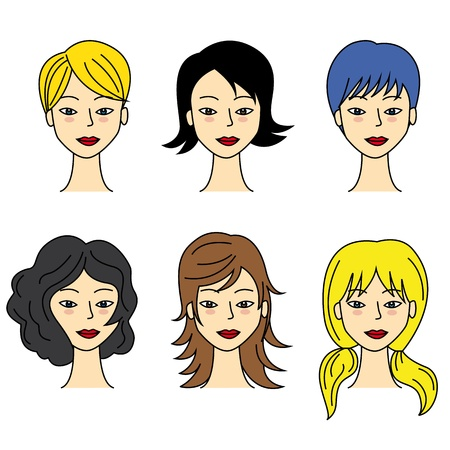 set of  hair styling Vector