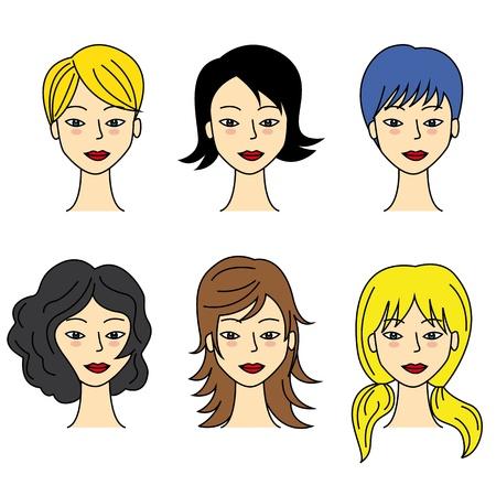 hair setting: set of  hair styling
