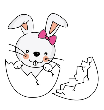 year of the rabbit: Easter rabbit Illustration