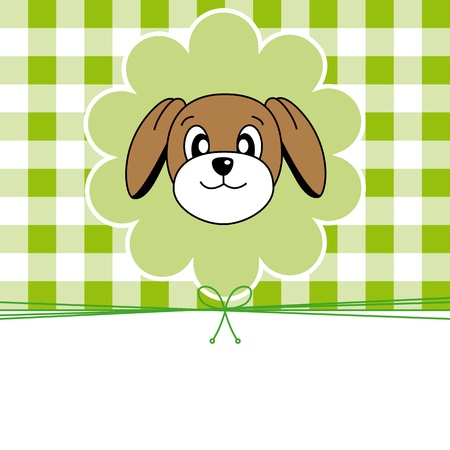 Animal card. Dog Vector