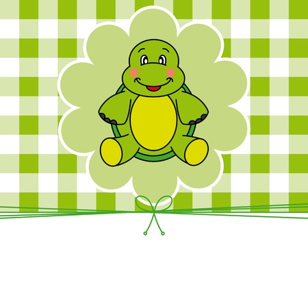 Animal card.turtle Vector
