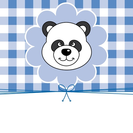 Animal card. Panda Vector