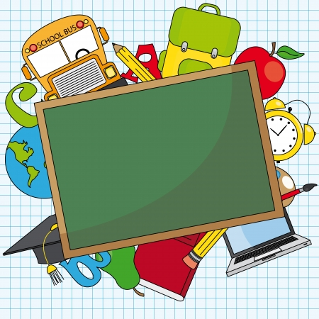 student teacher: Education and school icon set  Space for text