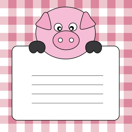 Label text. pig Vector