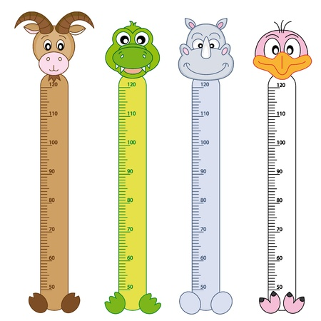 height chart: Bumper children meter wall  Wildlife Stickers