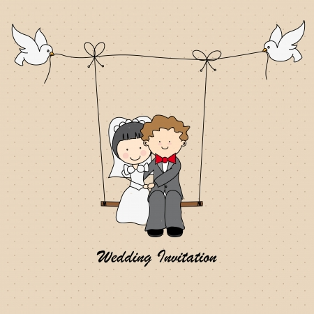 married: wedding invitation Illustration